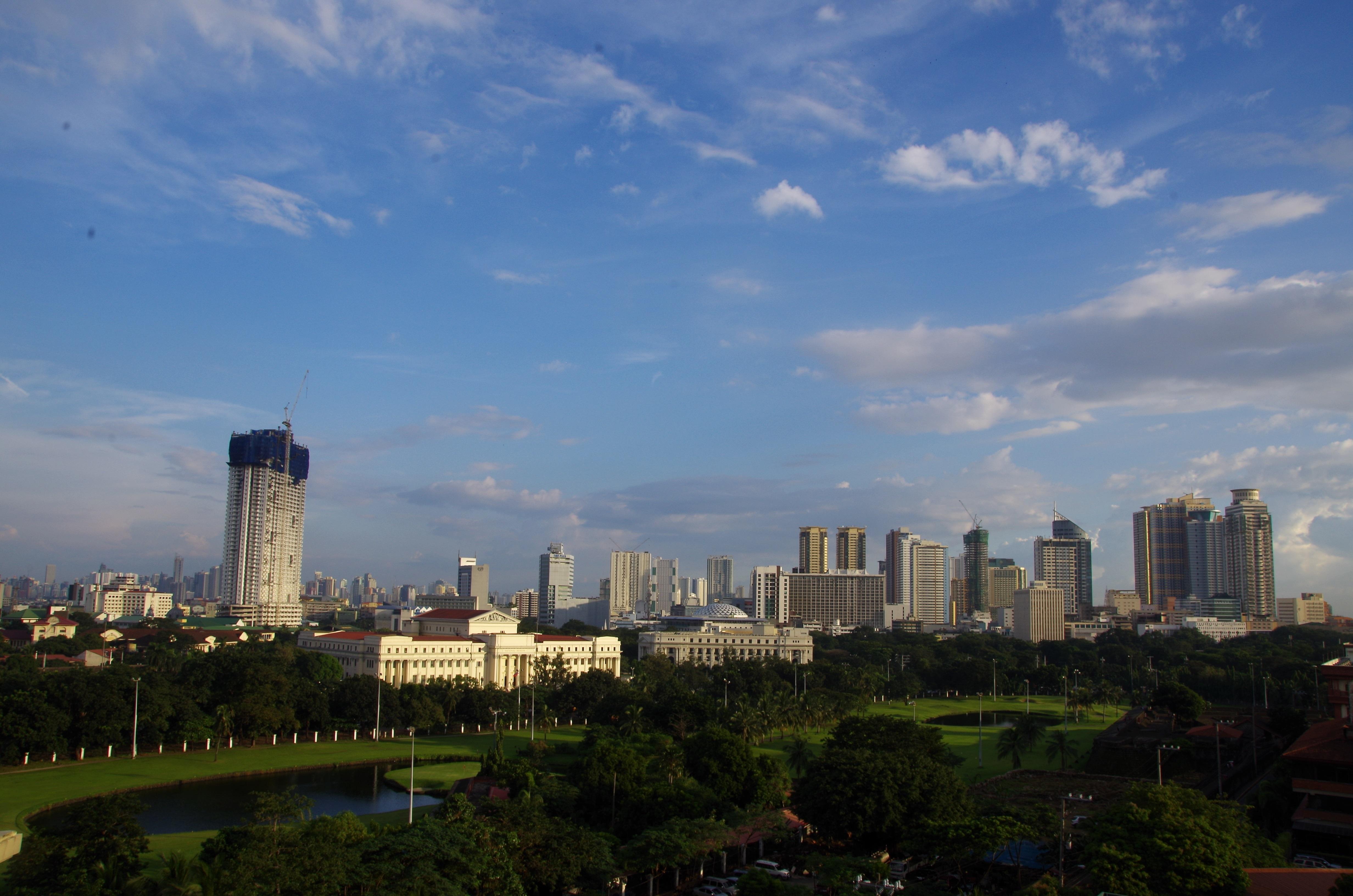 Intramuros- Vue du Penthouse du Bayleaf Hotel